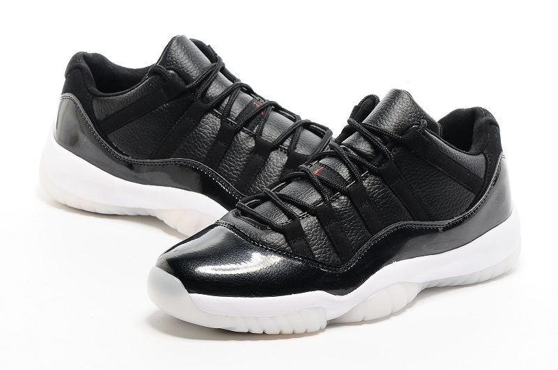 2016 Air Air Jordan 11 Low 72 11 Black White Red Shoes
