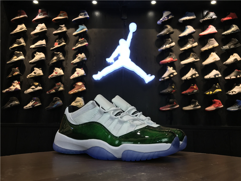 2017 Jordan 11 Retro Low Jade Green White Shoes