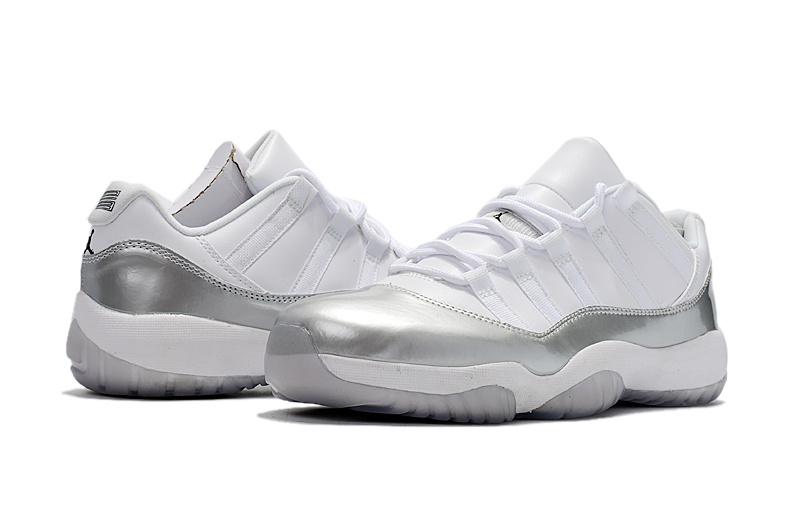 2017 Jordan 11 Low Silver White Shoes