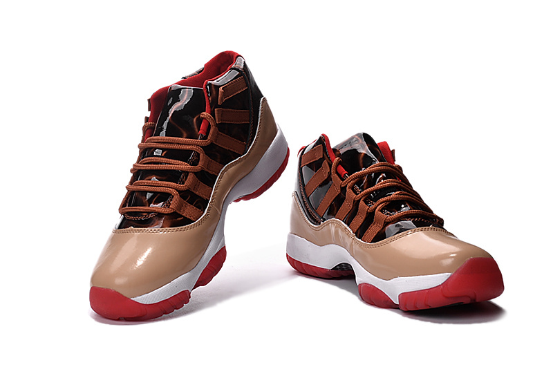 2016 Jordan 11 Retro Brown Black White Red Shoes