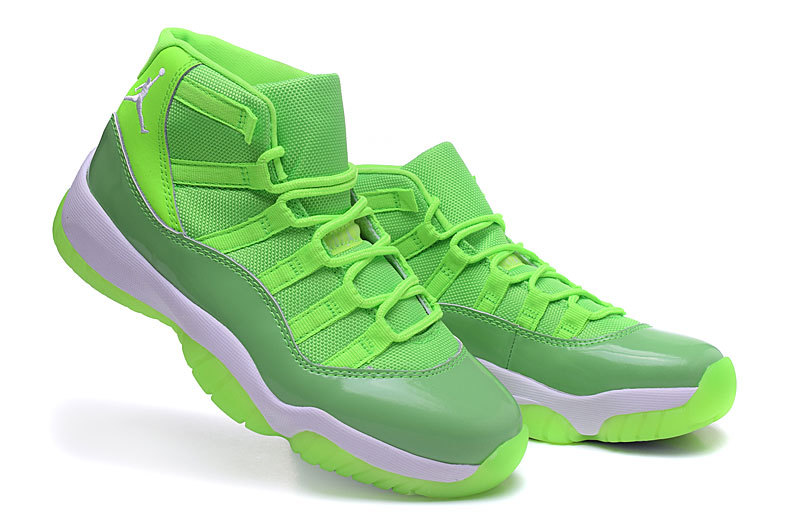 2016 Jordan 11 Retro Fluorscent Green Shoes For Women