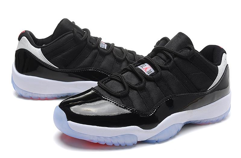 New Air Jordan 11 Retro Low Black White Orange Shoes