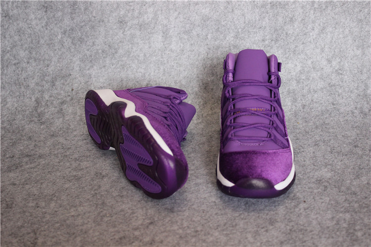 2017 Retro Jordan 11 Retro Velvet Purple White Lover Shoes