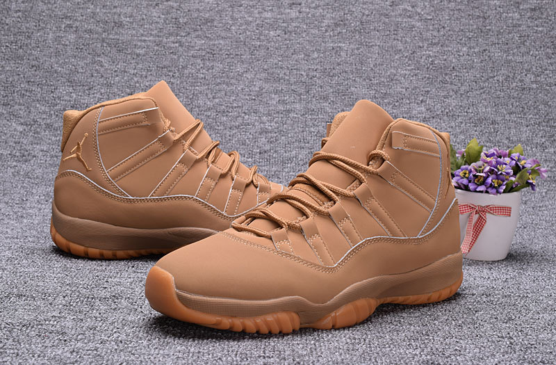 2017 Jordan 11 Retro Wheat Yellow