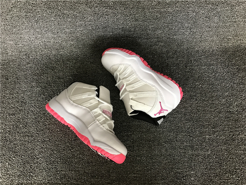 2016 Jordan 11 Retro White Red Shoes For Kids