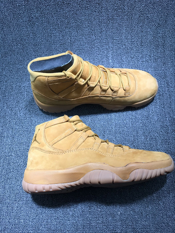 2017 Jordan 11 Wheat Yellow Shoes