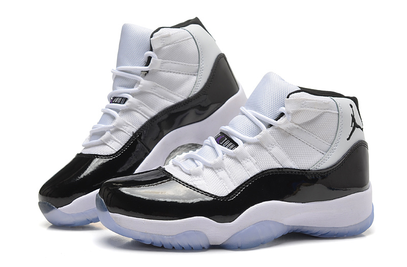 2015 New Women Air Jordans 11 White Black