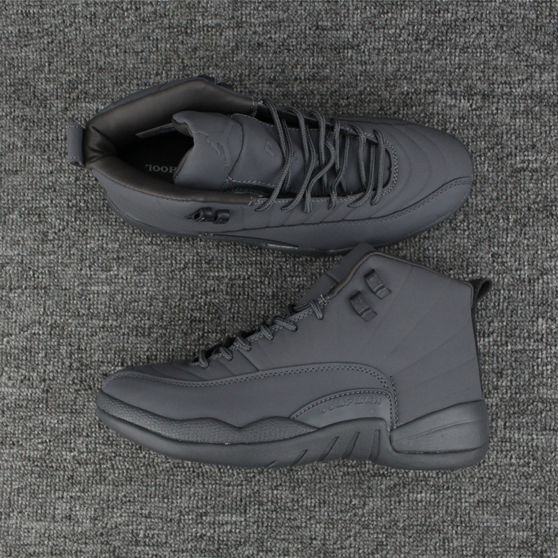 2017 Jordan 12 All Grey Shoes
