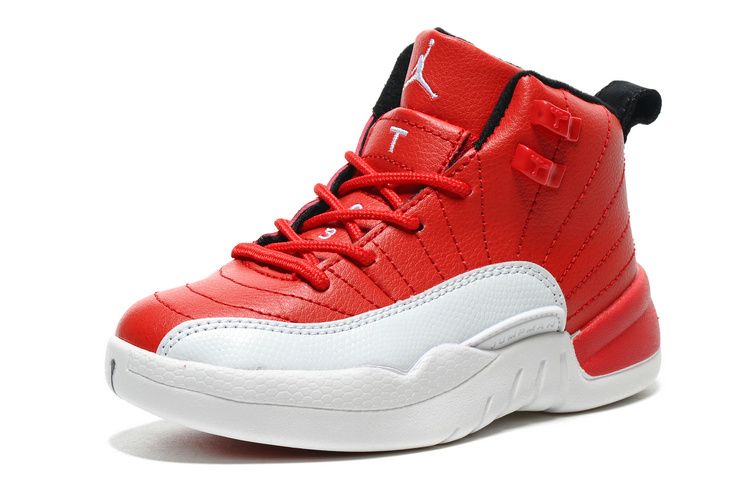 2016 Jordan 12 Gym Red Shoes For Kids