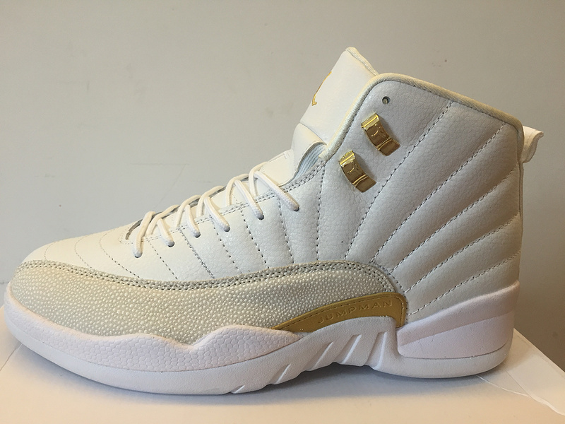 2016 Jordan 12 OVO White Gold GS Shoes