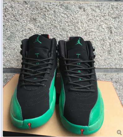 2017 Jordan 12 Retro Black Green Red Shoes