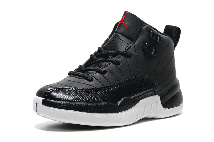 Cheap Jordan 12 Black White For Kids
