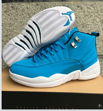 2016 Jordan 12 Retro Blue White GS Shoes