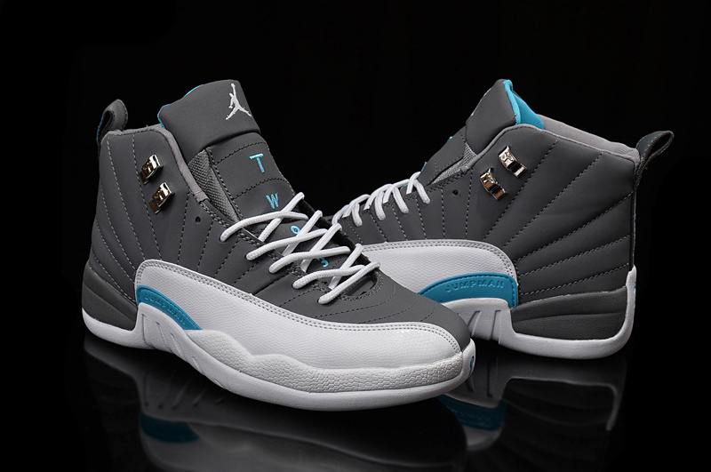 2016 Air Jordan 12 Grey White Blue