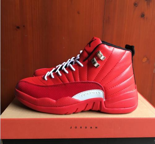 2017 Jordan 12 Retro Hot Red White Shoes