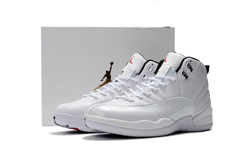 2016 Jordan 12 Sunrise White Shoes