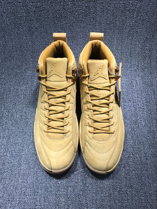 2017 Jordan 12 Wheat Yellow Shoes