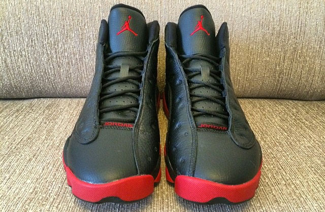New Women Air Jordans 13 Black Red