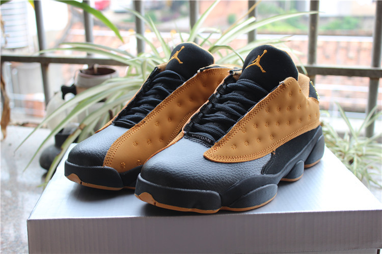 2017 Jordan 13 Low Chutney Yellow Black Shoes