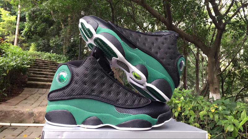 2017 Jordan 13 Ray Allen Black Green Shoes