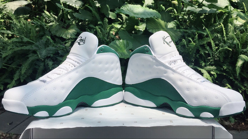 2017 Jordan 13 Ray Allen White Green