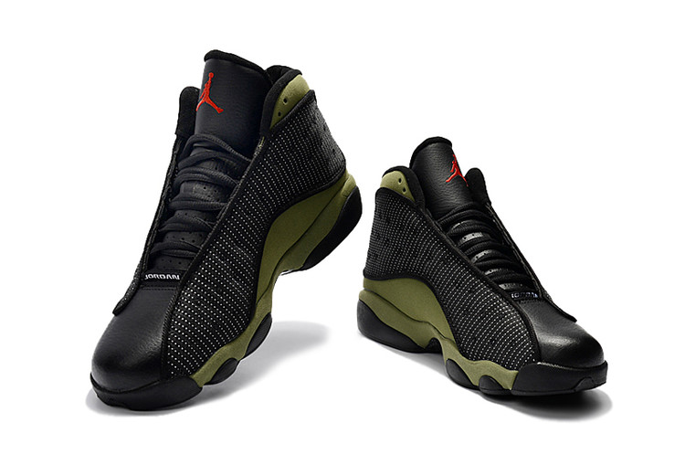 online store a2228 23c80 New Air Jordan 13 Retro Black Green Shoes [17RETRO102718 ...