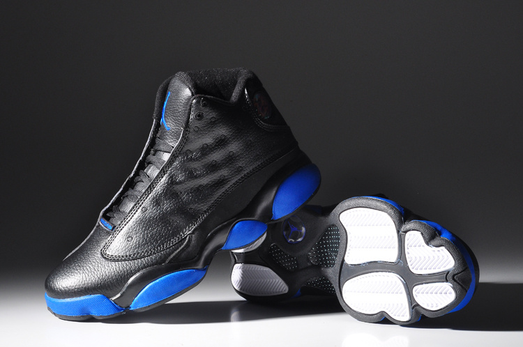 2015 Popular Jordan 13 Retro Black Blue Shoes