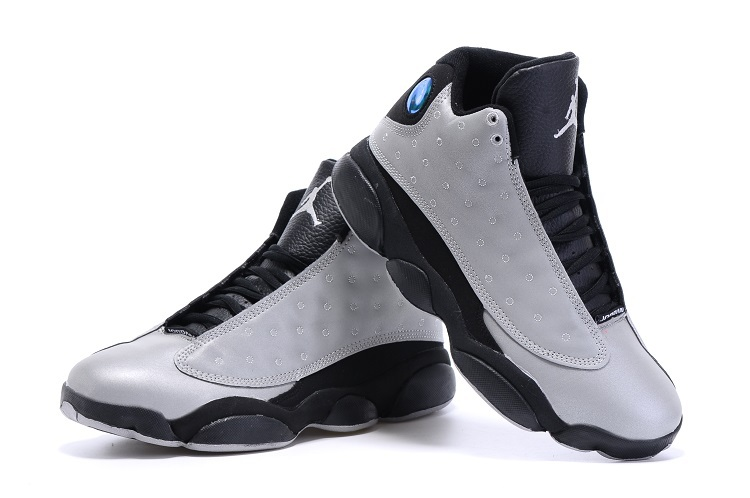 2015 Air Jordan 13 Retro Grey Black Shoes