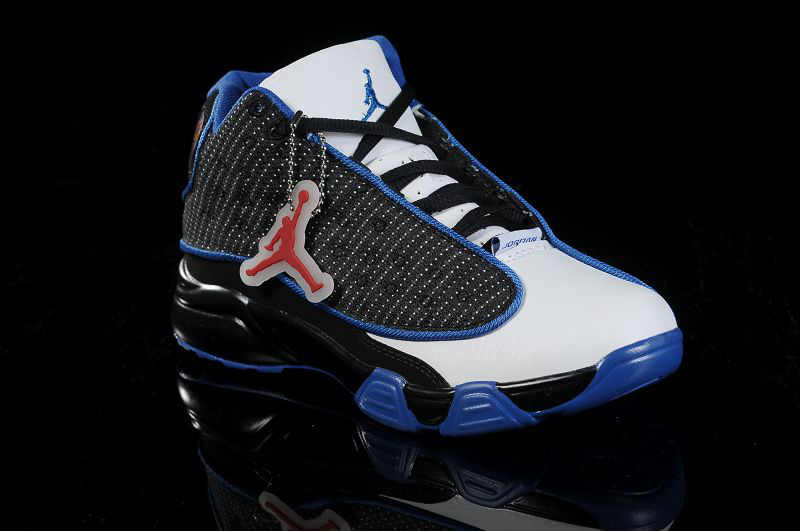 New Air Jordan 13 White Black Blue For Kids