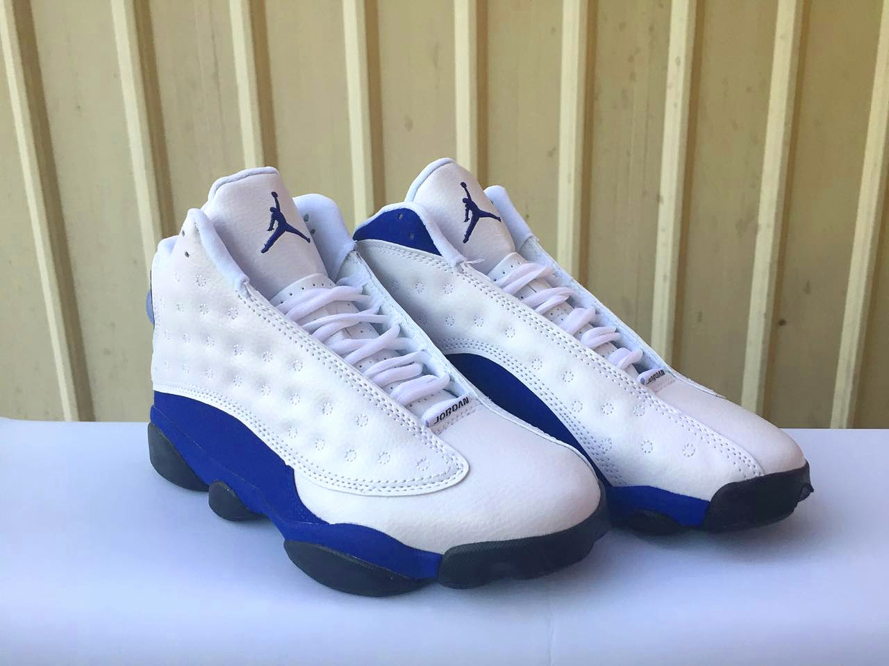 2017 Jordan 13 White Blue Black Shoes