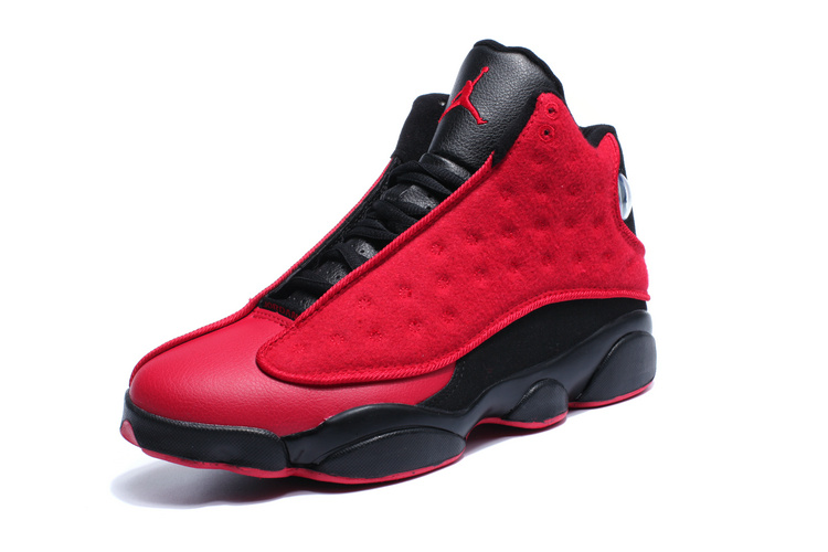 2016 Jordan 13 Wool Red Black Winter Shoes