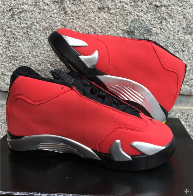 2016 Jordan 14 Ferrari Red Black Shoes For Kids