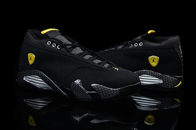 Latest Air Jordan 14 Low Black Yellow For Women