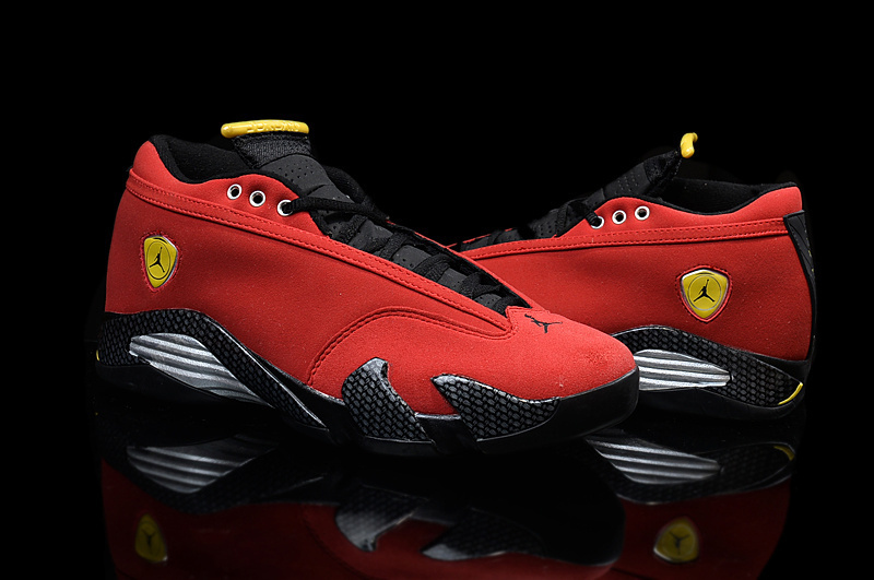 Latest Air Jordan 14 Low Red Black Yellow For Women