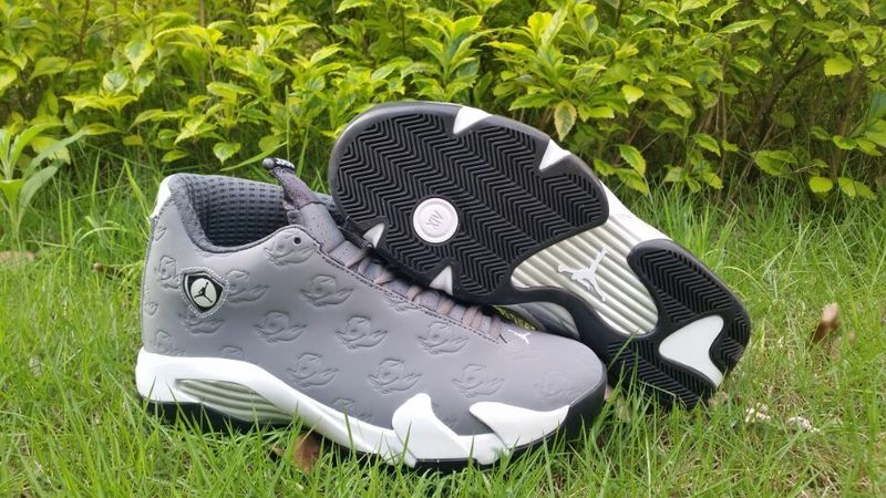 New Air Jordan 14 Oregon Grey White Shoes