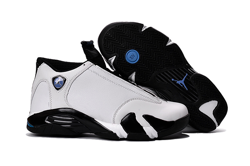 New Air Jordan 14 White Black Blue Shoes