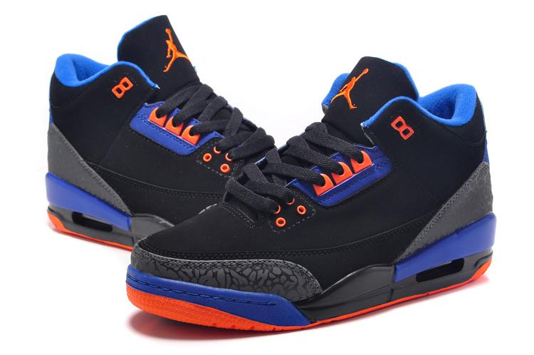womens air jordan retro 3 blue orange