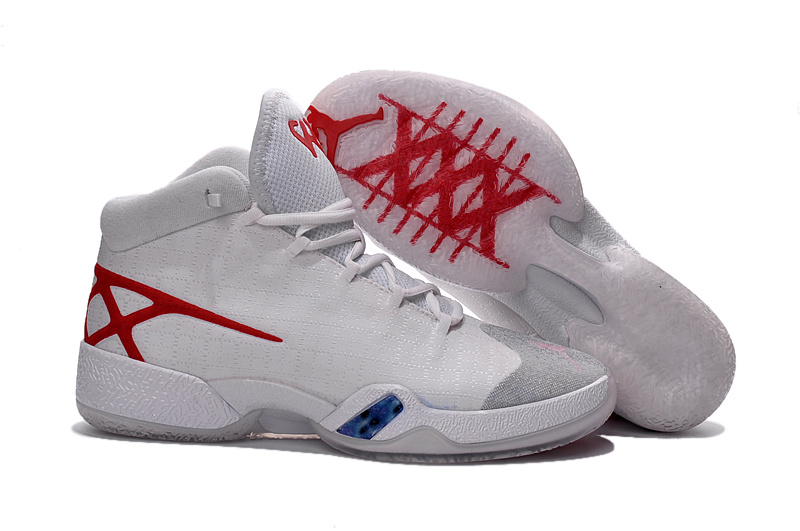 2016 Jordan 30 White Red Shoes