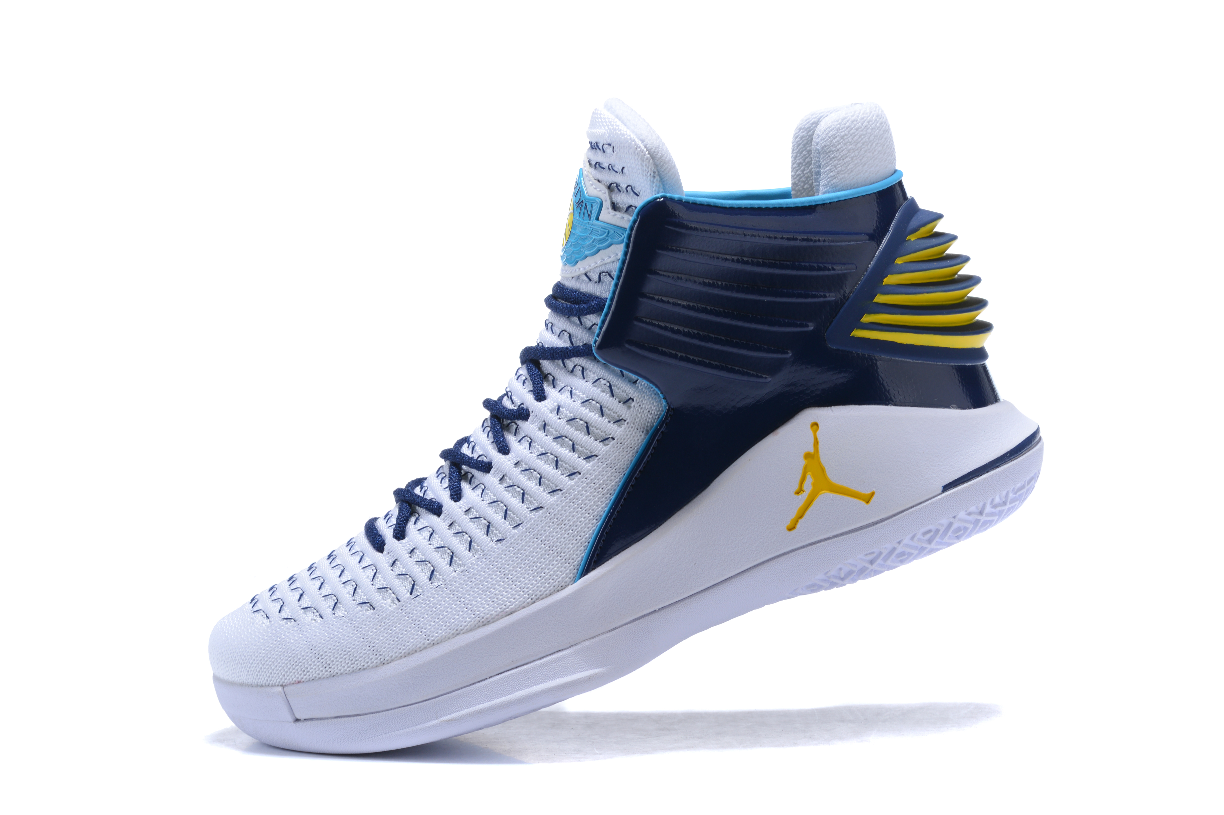 2017 Jordan 32 High White Blue Yellow