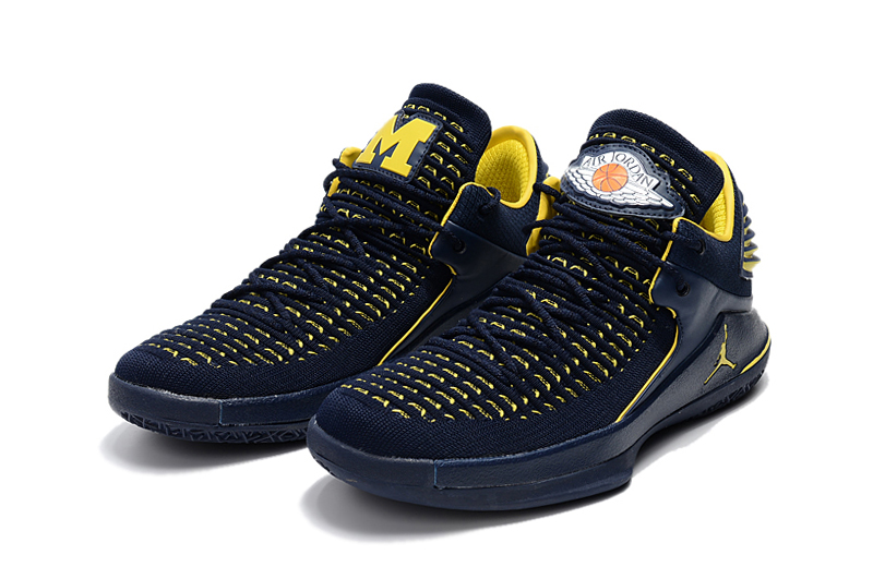 2017 Jordan 32 Low Blue Yellow
