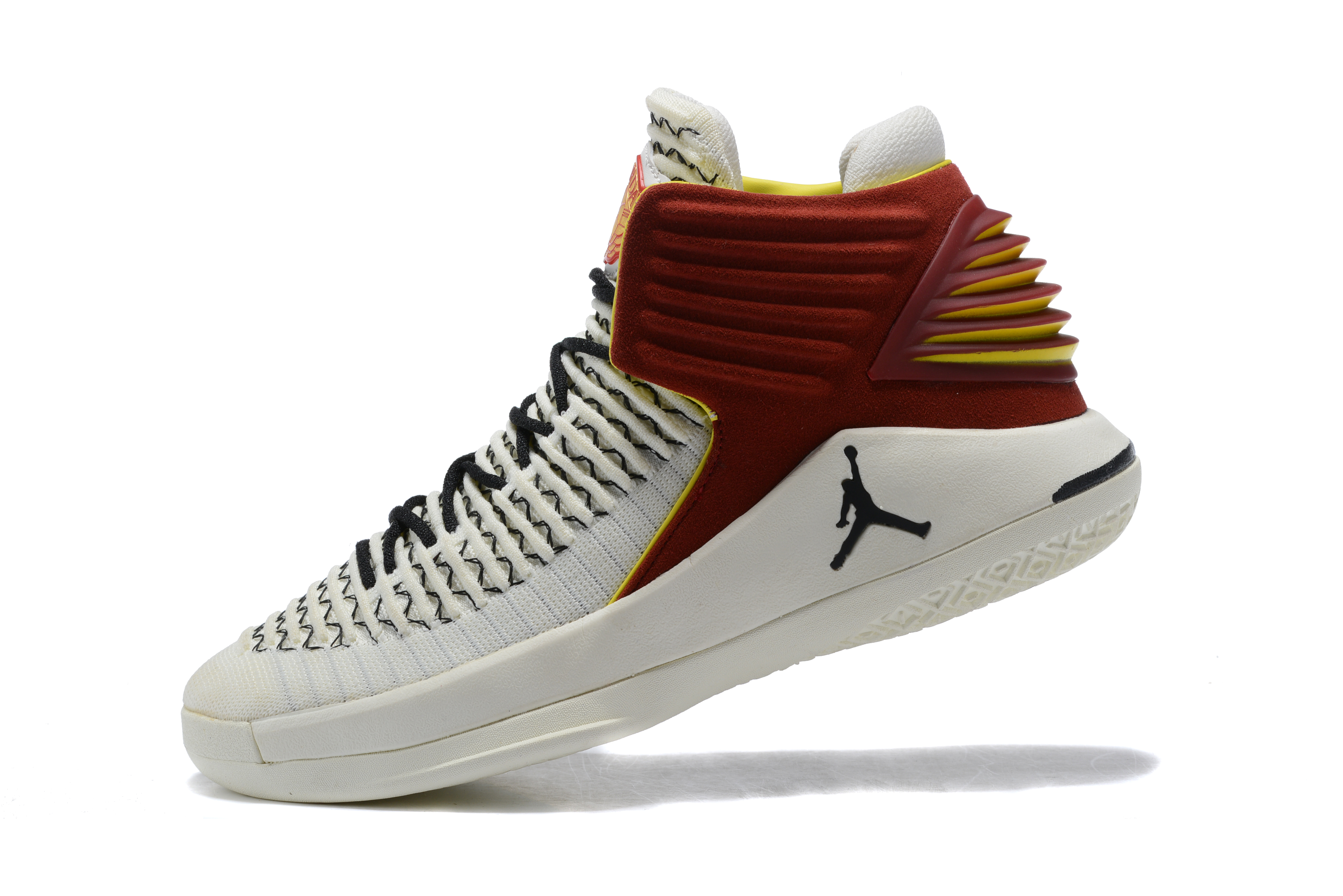 Jordan 32 White Wine Red Black Shoes