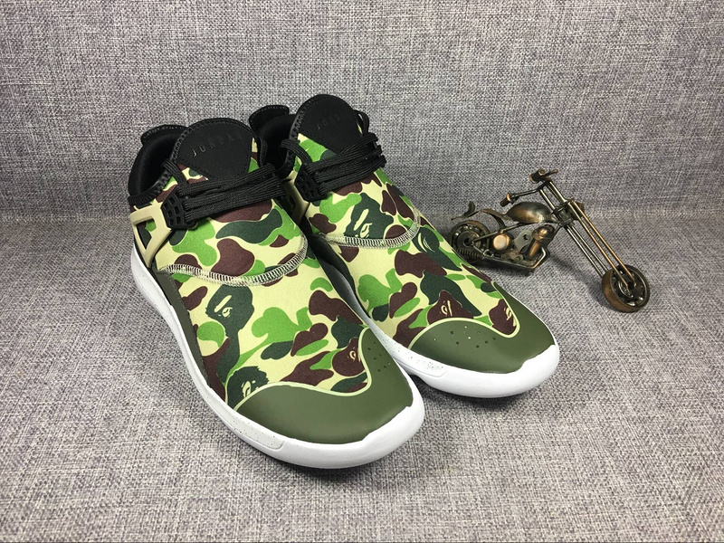 2017 Jordan 4 Camouflage Green Running Shoes