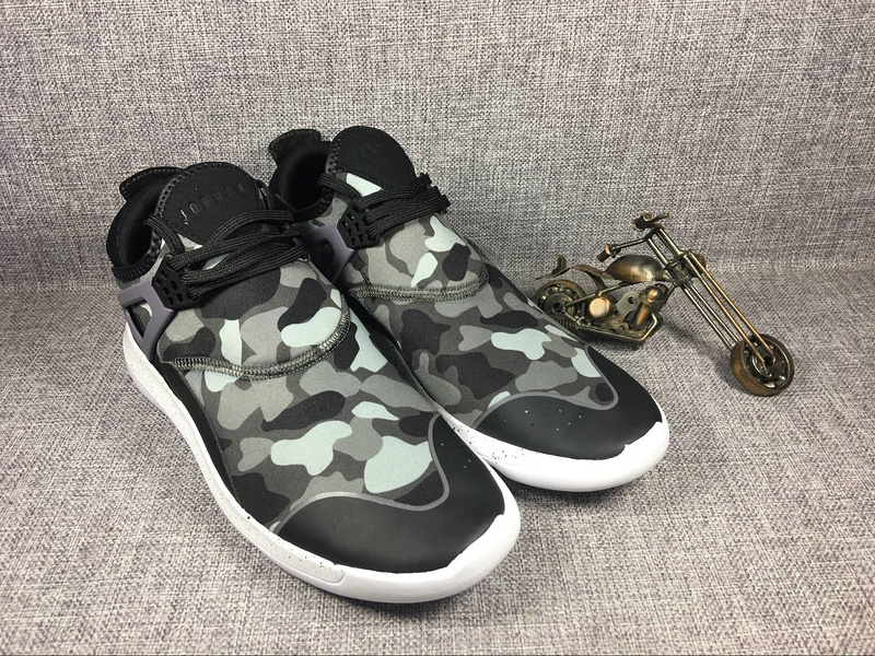 2017 Jordan 4 Camouflage Grey Running Shoes