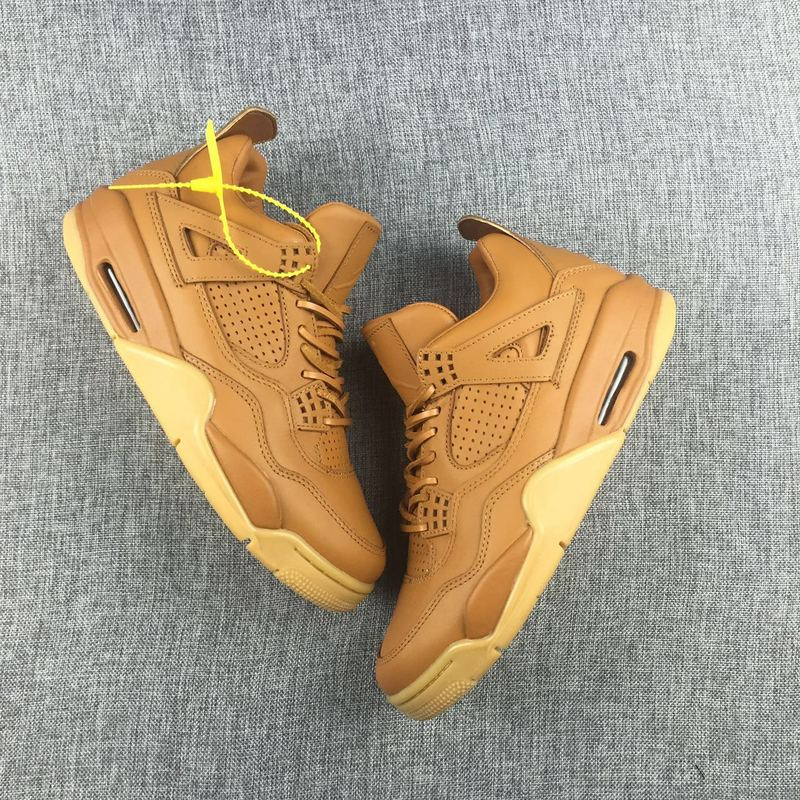 2016 Jordan 4 Retro Ginger Yellow Shoes