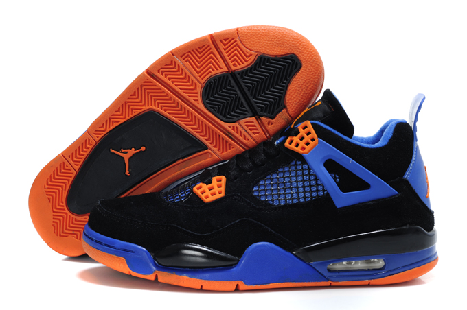 Air Jordan 4 Suede Black Blue Orange Lin Edition