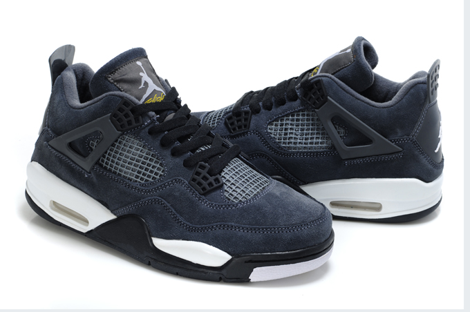 Air Jordan 4 Suede Blue Black White