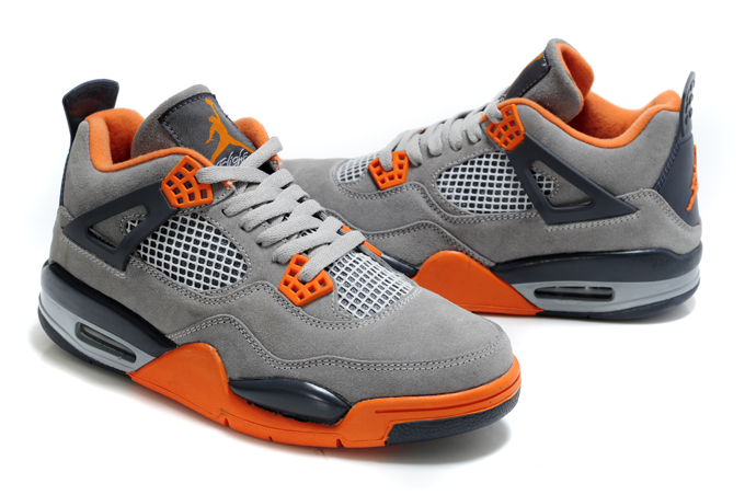Air Jordan 4 Suede Grey Black Orange
