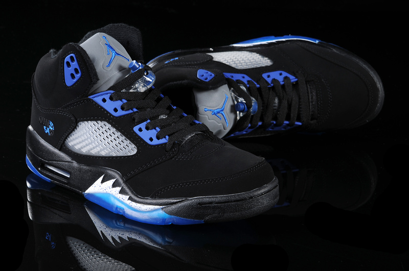 Air Jordan 5 Black Blue White