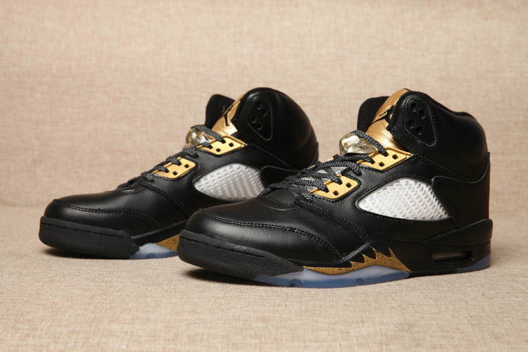 2016 Jordan 5 Black Gold Shoes