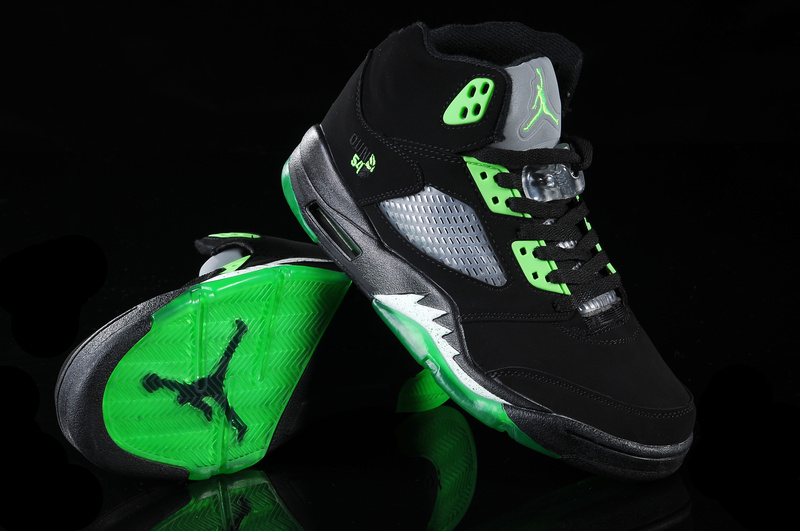 more photos aaaa2 8dddc ... air jordan 5 black green white